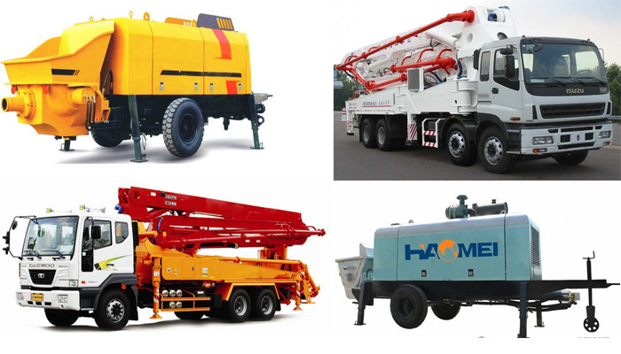 The classification of concrete pumps